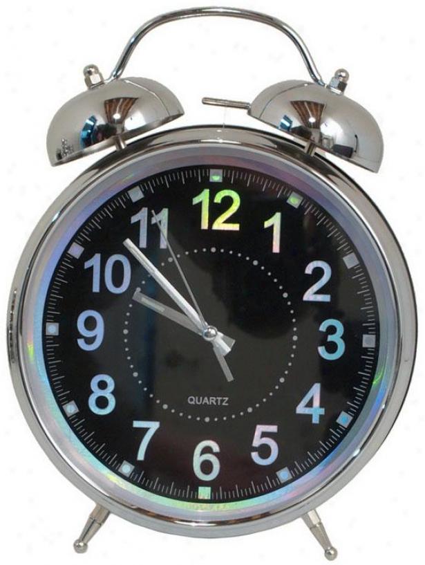 """""""liam Twin Bell Alarm Clock - 12hx8.5wx3.25""""""""d, Blue"""""""