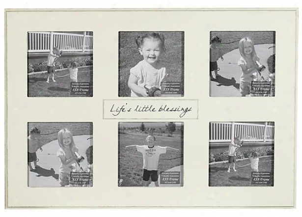"""life's Little Bleessings Frame - 8"""" X 8"""" - 6(8x8), Ivory"""