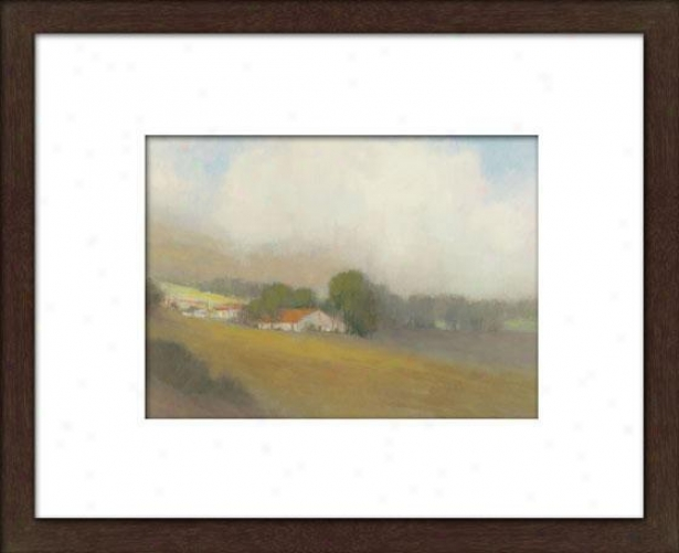 Lifting Clouds I Framed Wall Art - I, Matted Espresso