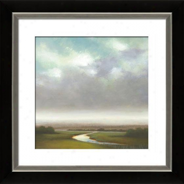 Light Precipitation I Framed Wall Art - I, Mttd Black/slvr