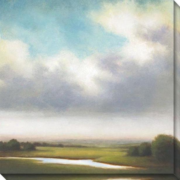 Light Precipitation Iii Canvas Wall Art - Iii, Gray