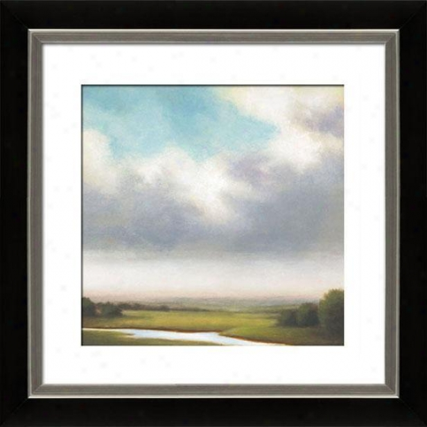 Light Precipitation Iii Framed Wall Art - Iii, Mttd Black/slvr