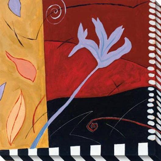 Lilien Ii Canvas Wall Art - Ii, Red