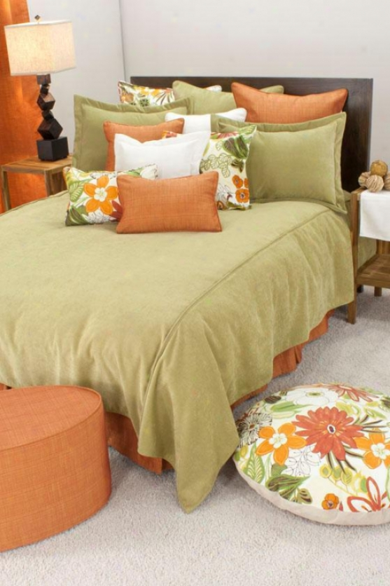 Lilith Collection Bedding - Coverlet Queen, Adagio Linden