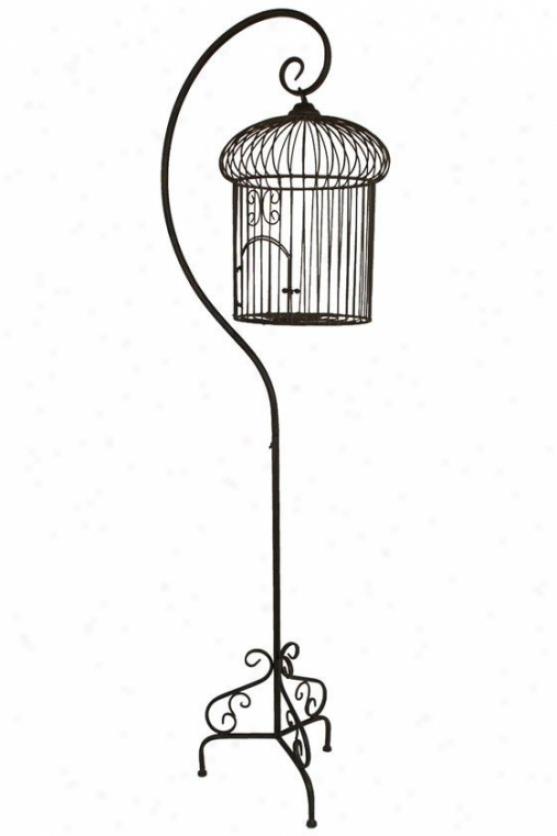 """lisell Hanging Bird Cage - 70""""h, Pumpkin"""