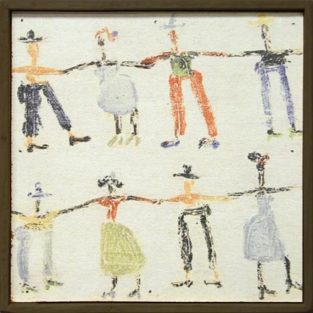 Little People Little Wall Art - 8.25hx8.25w, Multi