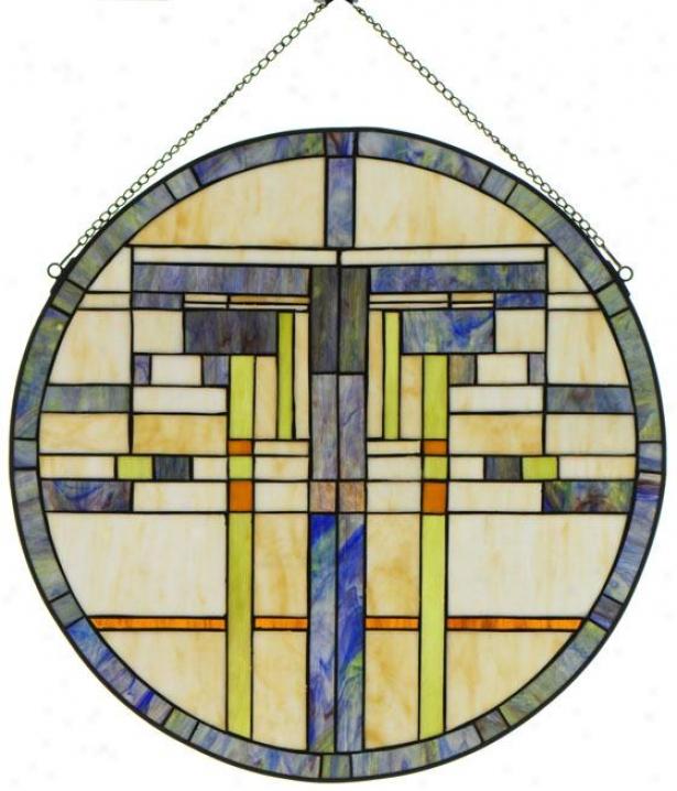 """""""logan Art Glass - 24"""""""" Diameter, Blue"""""""