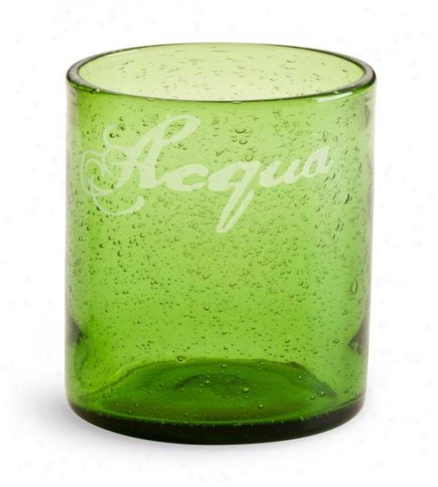 Lola Glassware - Set Of 4 - Tumbler, Green