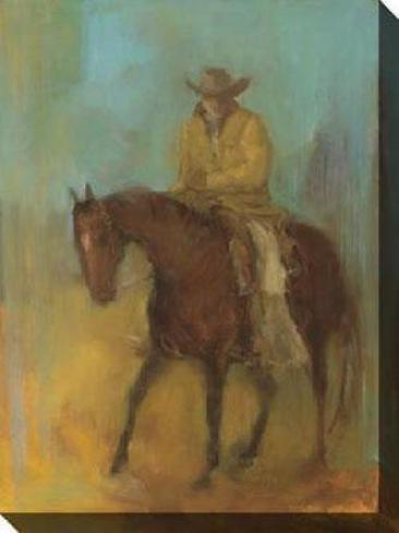Single Rider I Canvas Wall Art - I, Yellow