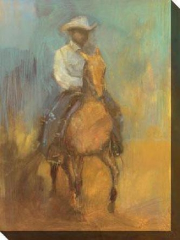 Lone Jockey Ii Canvas Wall Art - Ii, Yellow