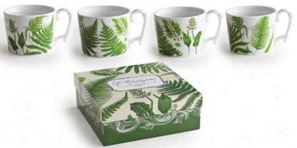 L'orangerie Dinnerware - Mugs,set Of 4, White