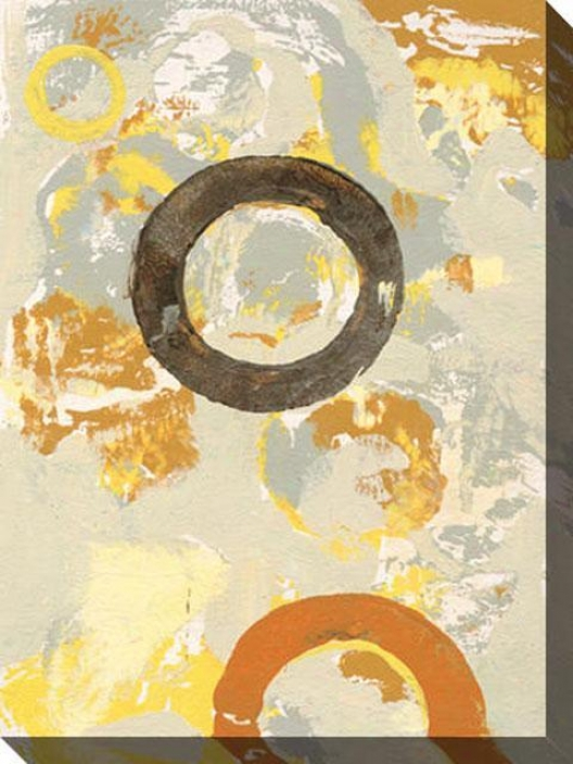 Lost In The Details Ii Canvas Wall Art - Ii, Yellow