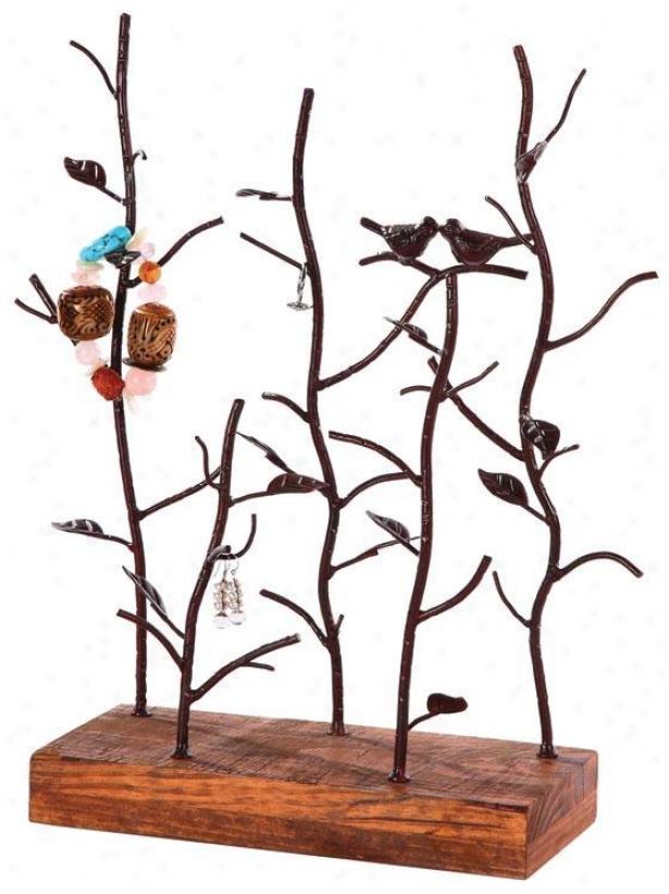 Love Birds Jewelry Holder - 13.75x5, Bronze