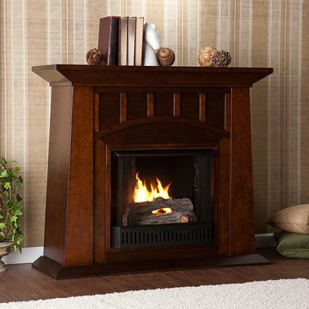 Lowery Fireplace - Gel Fuel, Coffee Brown