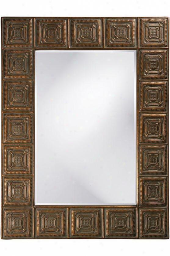 """ucille Mirror - 50""""hx38""""wx1""""d, Copper"""