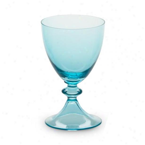 Luna Glassware - Set Of 4 - Wine Glass, Blue