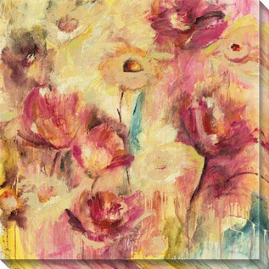 Luscious I Canvas Wall Art - I, Yellow