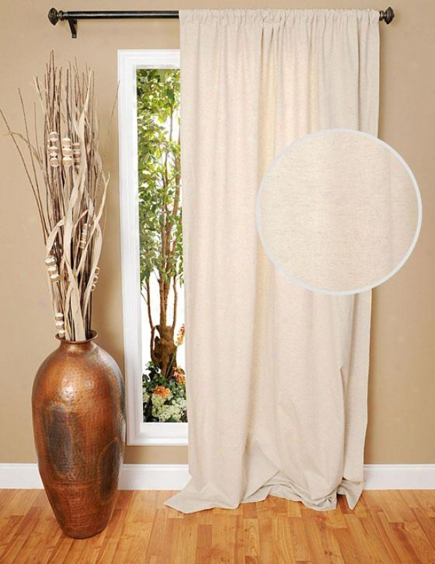 """luxe Thread of flax Curtain Panel - 96h X 48""""w, Flax"""