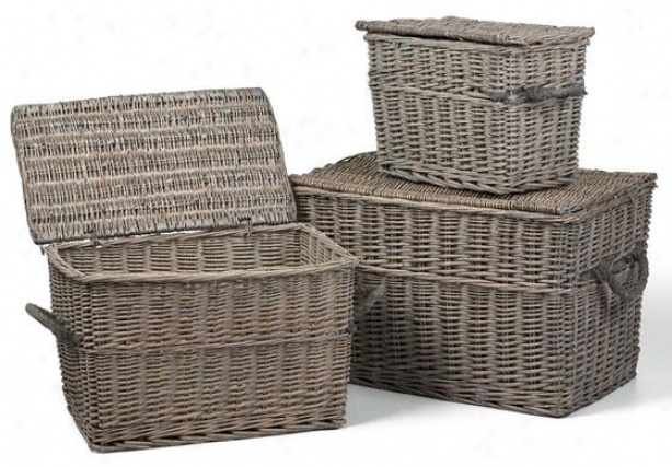 Lyon Storage Baskets - Set Of 3 - Set Of 3, Grey