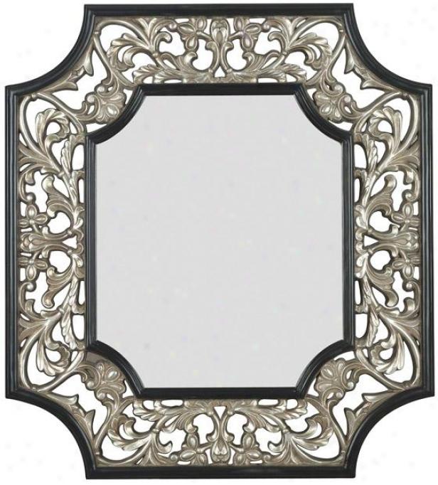 """""""maddox Wall Mirror - 37h X 34""""""""w, Silver W/black"""""""