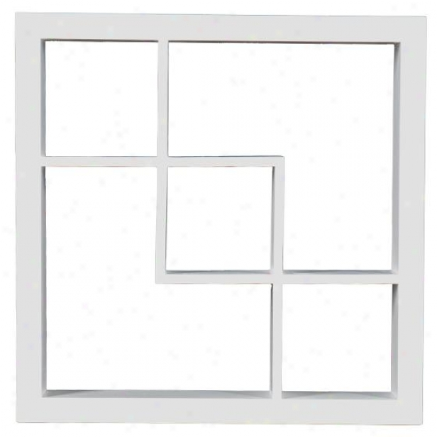 """madison Display Shelf - 16""""square X 3""""d, White"""