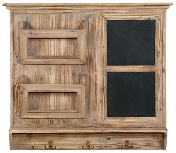 Mailroom Organizer - 27hx31w, Driftwood Blonde