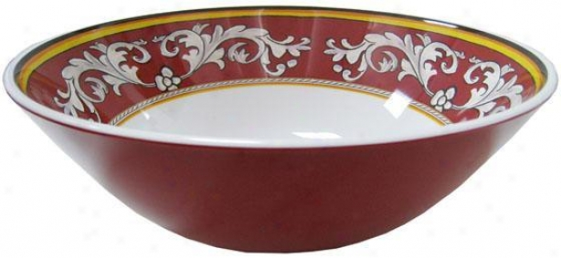 """malaga Serving Bowks - 12""""d, Red"""