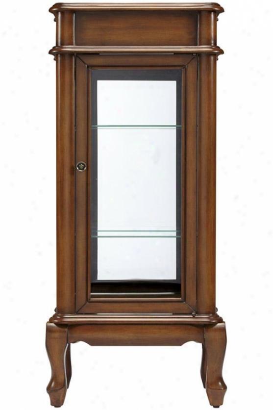 Manila Curio Cabinet - 42.5h X19w X12d, Brown