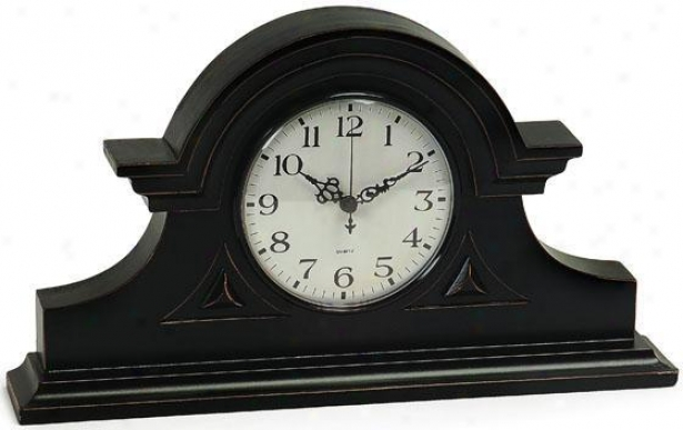 """mantel Clock I - 8""""h X 15""""w, Black"""