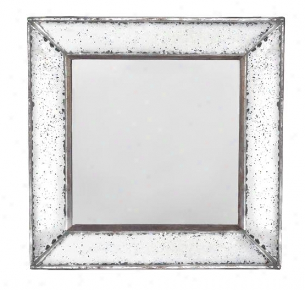 """marilyn Square Mirror - Square 12""""x12"""", Antiqued Miror"""