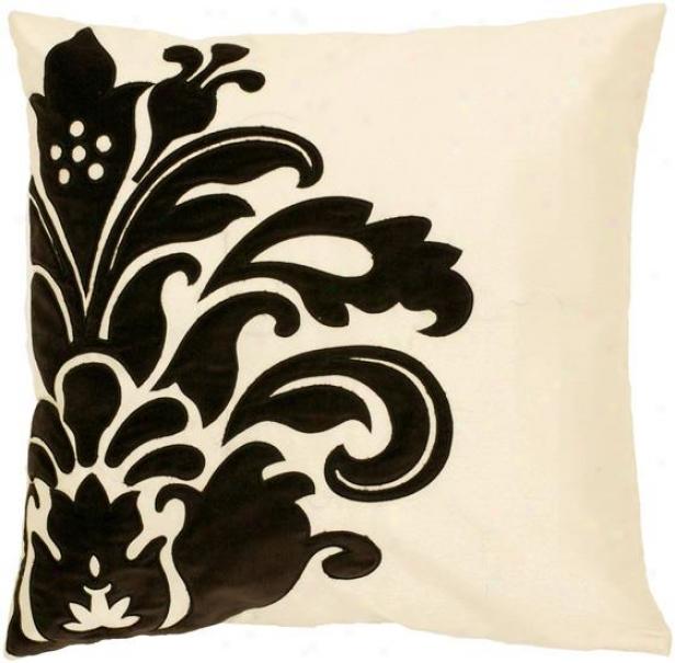 Marjorie Decorative Pillow - 18hx18w Poly, White