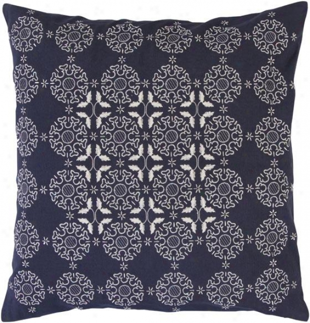 Marley Decorative Pillow - 18hx18w Poly, Navy Blue