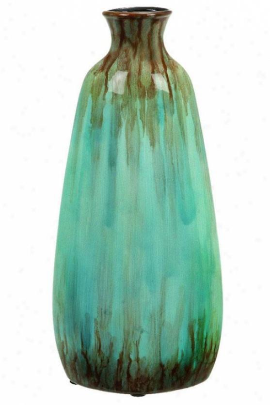 """""""martle Vase - 14""""""""hx6""""""""w, Turquoise"""""""