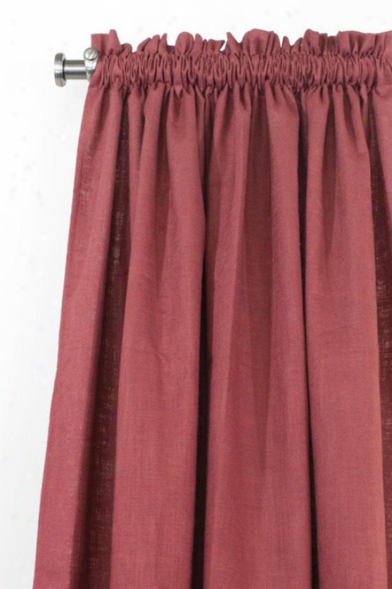 """maya Collection Curtain Panels - Rod Pocket Unlined Panel, 54x84""""x, Circa Solid Lwvax"""