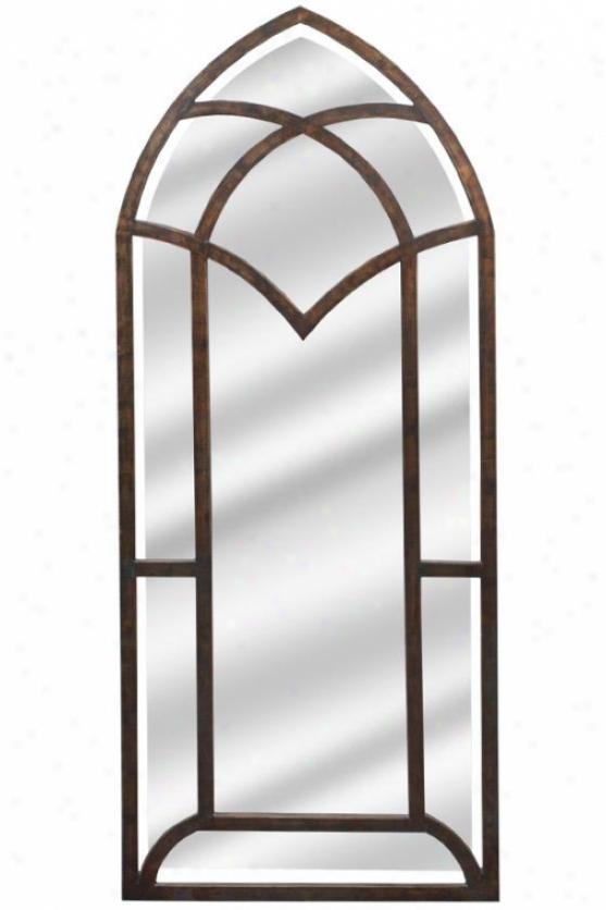 Medieval Style Wall Mirror - 59hx23d, Bronze