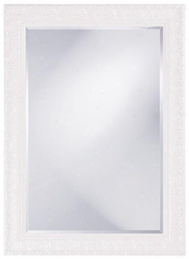 Mslissa Wall Mirror - 30hx42w, White