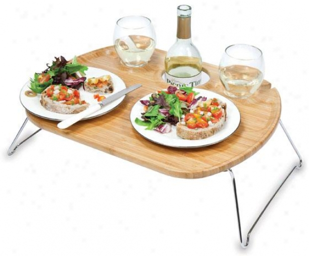 """mesamio Serving Tray - 6h X 19w X 15""""d, Natural Wood"""