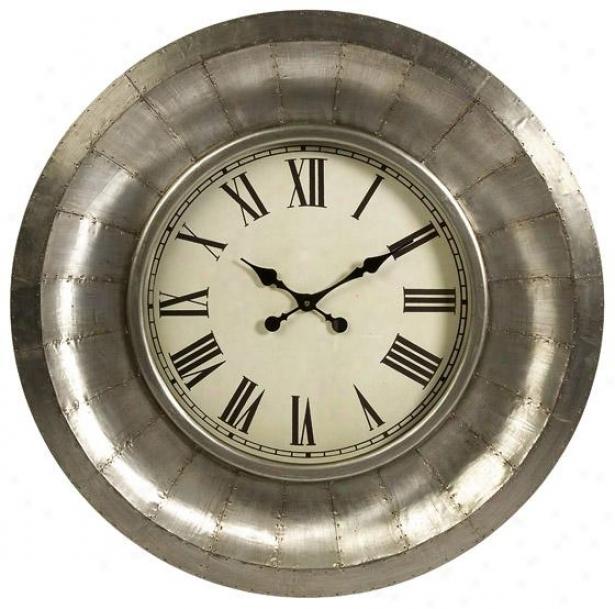 Mesick Aluminum Clock - 33.25x33.25, Silver