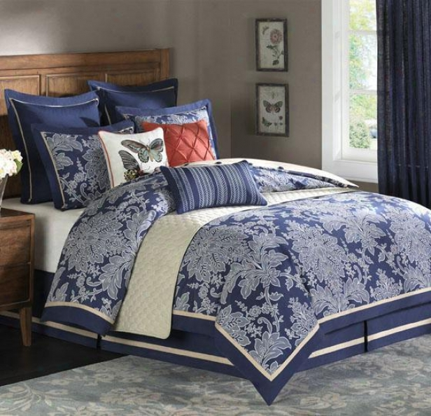 Middleton Ii Comforter Set - Queen 9pc Set, Navy Blud