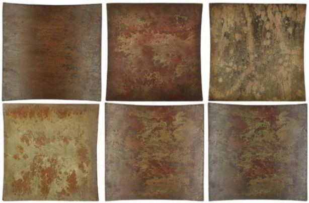 """""""mikie Collage Wall Art - Impart Of 6 - 14""""""""hx14""""""""w, Brown"""""""