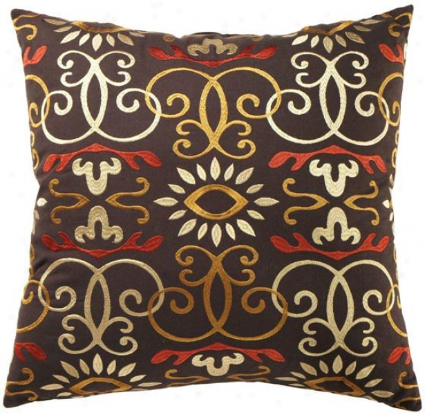 Milano Devorative Pillow - 20hx20wx7d, Brown