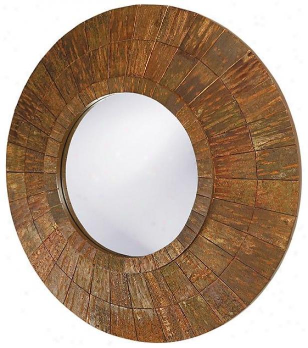 Minocqua Wall Mirror - 35hx35w, Brwon