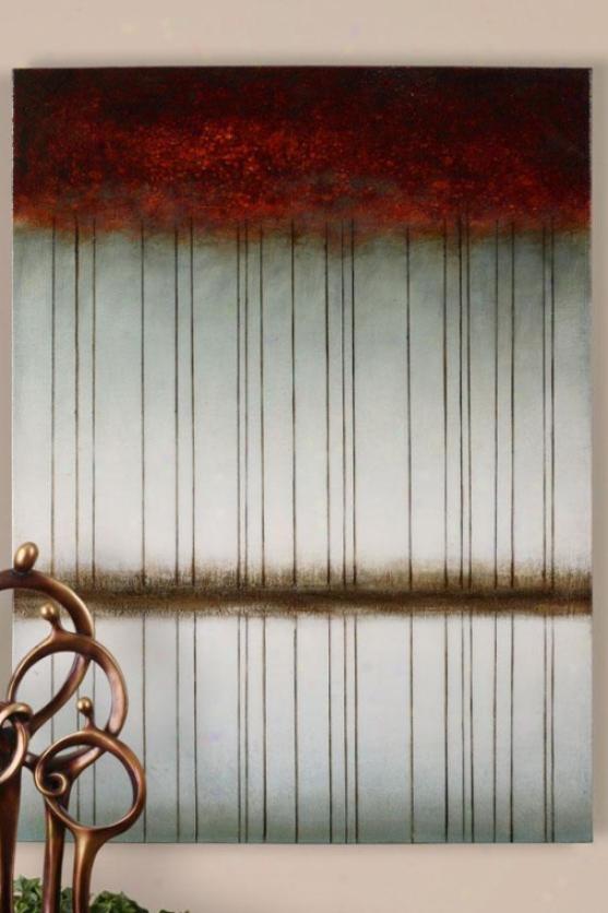 """""""mirror Image Wall Art - 48""""""""gx36""""""""w, Burgundy"""""""