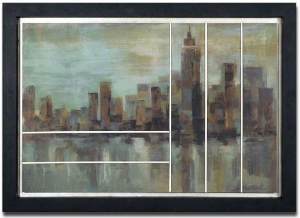 """misty Day In Manhattan Wall Art - 29h X 42w X 3""""d, Dismal"""