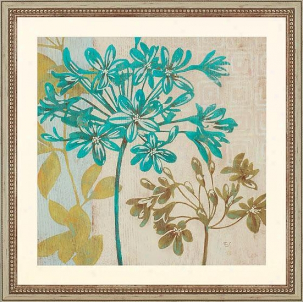 """Recent Agapanthus - 26"""" Square, Blue"""