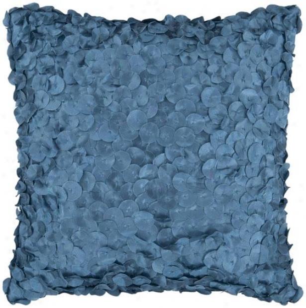 Molly Decorative Pillow - 18hx18w Poly, Blue