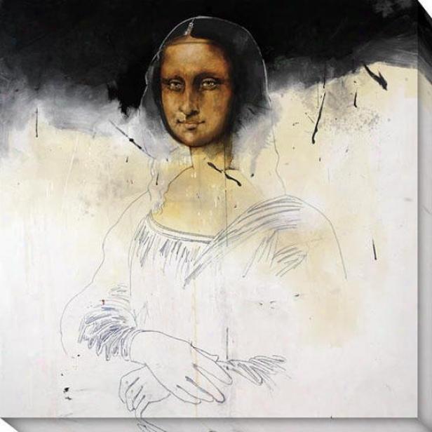 """mona Black Canvas Wall At - 40""""hx40""""w, Black"""