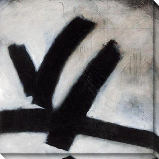 Monochromatic Succession I Canvaw Wall Art - I, Black