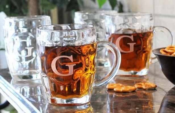 Monogram Beer Tankare - Set Of 4 - 18.5 Oz/est 4, Q