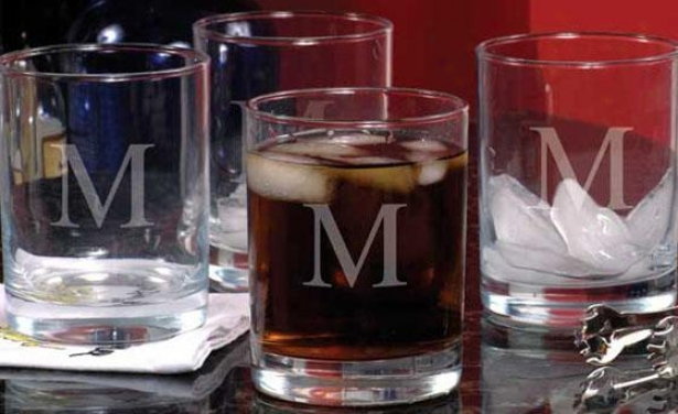 Monogram Double Old Fashioned Glasses - Set Of 4 - 14oz, M